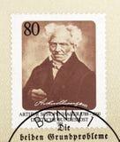 arthur schopenhauer znaczek Zdjęcia Royalty Free