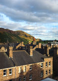 Arthurs Seat mountain hiking trail  Holyrood Park Edinburgh Sco Stock Photography