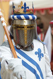 The Arthurian legend. Medieval knight with a spear (foot soldier Stock Photography