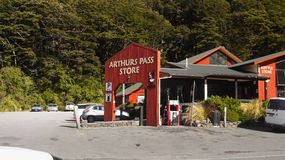 Arthurs Pass, Gas Station, New Zealand Royalty Free Stock Photo