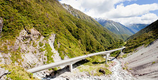 Arthurs Pass Viaduct highway, Southern Alps, NZ Stock Photo