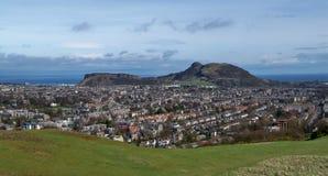 Arthurs Seat Edimburgo dalla collina di Blackford Fotografie Stock Libere da Diritti