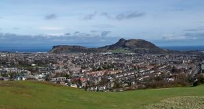 Arthurs Seat Edimburgo do monte de Blackford Fotos de Stock Royalty Free