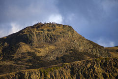 Arthurs Seat in Edinburgh. The magnificent view of Arthurs Seat from Calton Hill in Edinburgh, Scotland Royalty Free Stock Photo