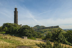 Arthurs Seat Edinburgh. On a sunny summers day Stock Image