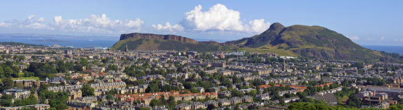 Arthurs Seat and Salisbury Crags Edinburgh Royalty Free Stock Photos