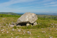 Arthurs Stone Cefn Bryn hill The Gower peninsula South Wales UK Royalty Free Stock Photos