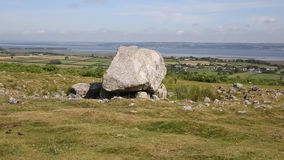 Arthurs Stone neolithic burial ground Cefn Bryn hill The Gower peninsula South Wales UK stock video footage