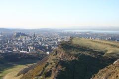 Arthurss Seat vers l'Ochil Hills images stock