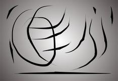Arti bianche di arte del abstrack del nero di gradazione di grigio del fondo Fotografia Stock