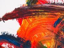 Arti che dipingono l'acqua astratta del fondo acrilica Fotografia Stock Libera da Diritti