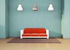 Arti contemporanee minime semplici della stanza di informazioni dello studio illustrazione di stock