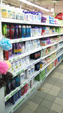 Arti'culos de tocador no supermercado fotografia de stock