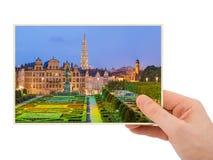 Arti del DES di Monts e della mano a Bruxelles Belgio la mia foto Fotografia Stock Libera da Diritti