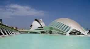 Arti e centro di scienza a Valencia fotografia stock