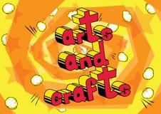 Arti e mestieri - frase di stile del libro di fumetti royalty illustrazione gratis