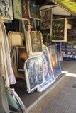 Arti e pitture vendute in via di Siem Reap Fotografia Stock