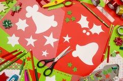 Arti e rifornimenti del mestiere per il Natale Fotografia Stock