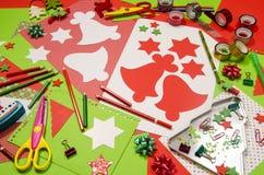 Arti e rifornimenti del mestiere per il Natale Immagini Stock