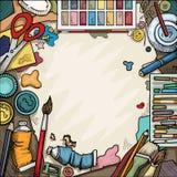 Arti e tavola dei mestieri illustrazione di stock