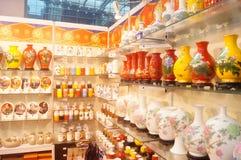 Arti e vendite ceramiche di mostra dei mestieri Fotografia Stock Libera da Diritti