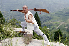 Arti marziali?.broadsword. Fotografie Stock