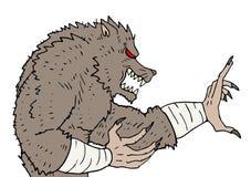 Arti marziali del mostro illustrazione vettoriale