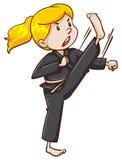 Arti marziali femminili esperte illustrazione vettoriale