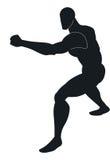 Arti marziali, illustrazione Immagine Stock