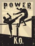 Arti marziali Mixed di MMA illustrazione vettoriale