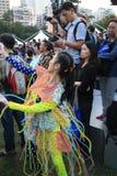 Arti nell'evento di Mardi Gras del parco in Hong Kong Fotografie Stock