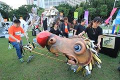 Arti nell'evento di Mardi Gras del parco in Hong Kong Immagine Stock