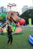 Arti nell'evento di Mardi Gras del parco in Hong Kong Fotografie Stock Libere da Diritti