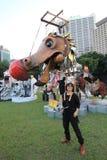 2014 arti nell'evento di Mardi Gras del parco in Hong Kong Immagine Stock Libera da Diritti