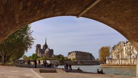 Arti-Notre Dame Cathedral, Parigi del DES di Pont video d archivio