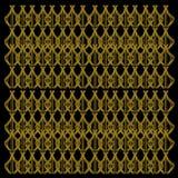 Arti originali NERE di //dell'oro esotico di lusso delle mandale immagine stock
