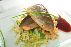 Artic char fish. Japanese Style artic char fish stock photography