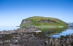 Artic Island Landscape. An artic island in Norway at summertime stock image
