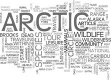 Artic Tours Word Cloud Stock Images