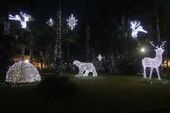Artic sorrento. A artic village in the garden at sorrento in italy in christmas time Stock Photo