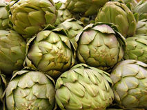 Artichoke. Stacked artichoke in the market Stock Image