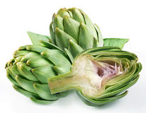 Artichoke. On a white background Stock Photos