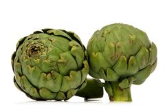 Artichoke. Green artichoke over white background Stock Image