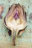 Artichoke. The inside of a cut artichoke is surprisingly pretty royalty free stock image