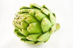 Artichoke. Green artichoke on a white background Royalty Free Stock Photo
