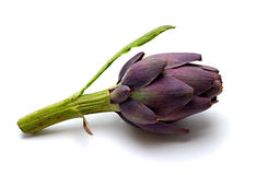 Artichoke. Isolated on a white background Stock Photos
