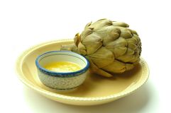 Artichoke And Butter Stock Images