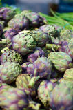 Artichoke. S for sale at the local market Stock Image