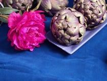Artichoke as a flower Royalty Free Stock Image