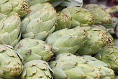 Artichoke background. Asparagus family, market stock photography Stock Photo